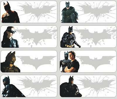 48 personalised Batman name stickers for school and childcare,  up to 2 names