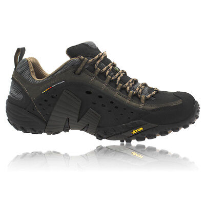 Merrell Intercept Mens Black Trail Walking Outdoors Hiking Sports Shoes Trainers