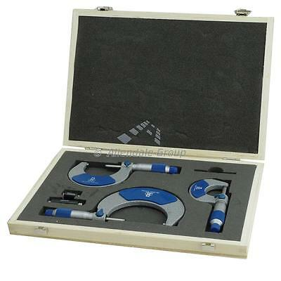 Moore and Wright 0-75mm Micrometer Set Metric External Outside - 215 Series Mic