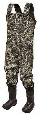 Frogg Toggs Amphib 3.5mm Neoprene Chest Waders Size 12 Realtree Max 5 Camo New