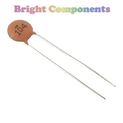 50 x 100nF / 0.1uF - Ceramic Disc Capacitor (104) - 25V - UK - 1st CLASS POST