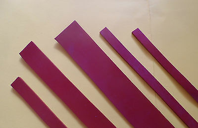 SILICONE RUBBER STRIPS - 3MM THICK x 38MM WIDE -  BY THE METER - RED - FREE POST