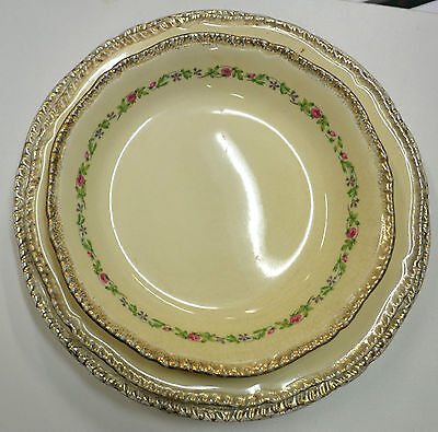 Ridgways Shelton Floral Dinner Bowl & 5 Plates Circa 1879-1920 B3