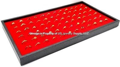 1 Red 72 Ring Display Storage Stackable Tray
