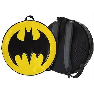 Batman: Round Logo 17 Inch Backpack / Rucksack - New & Official DC Comics
