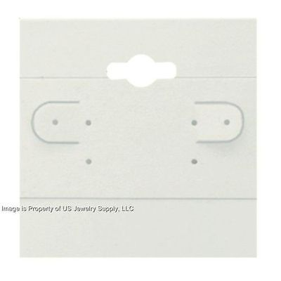 "1000 White Hanging Earring Display Cards 2""H x 2""W with Lip"