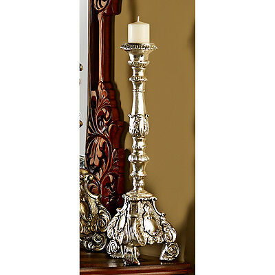 "20"" Medium: Old World European Baroque Style Sculptural Floor Candlestick Holder"