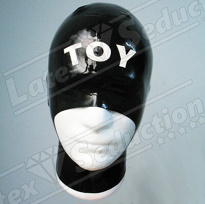 BLIND OPEN LATEX HOOD - Rubber Gummi Mask Masken Haube Kapuze