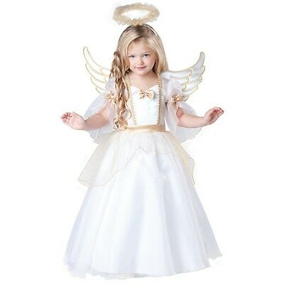Angel Costume Toddler Kids Nativity Outfit Christmas Fancy Dress