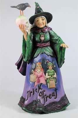 Jim Shore 'Stay For A Spell' Halloween Trick Or Treat Witch  #4041137  NIB!