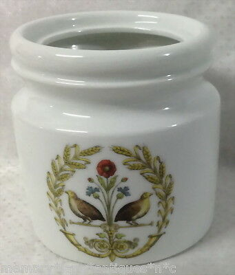 FRENCH FRANCE DECOR CHAMBORD LES CAILLES QUAIL BIRD WHITE CERAMIC CONTAINER