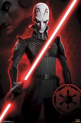 STAR WARS POSTER ~ REBELS INQUISITOR 22x34 Empire Lightsaber Jason Isaacs