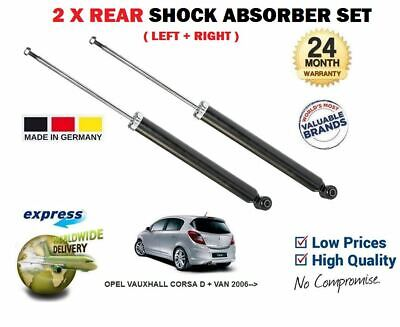 FOR VAUXHALL CORSA D + SRI VXR 2006--  2x REAR LEFT & RIGHT SHOCK ABSORBER SET