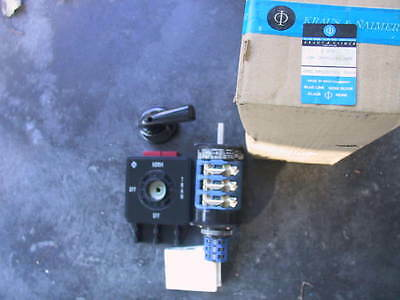 New In Box Kraus & Naimer C80 Blue Line Selector Switch 2PF512*1 With C12