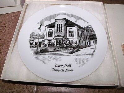TOWN HALL Libertyville Ill Collectors Plate #144 Limited Edition w/ BOX