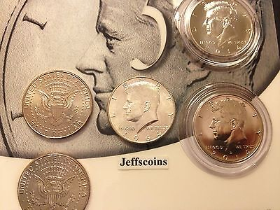 50th Anniversary Kennedy 1964 2014 P D Half Dollar 90% Silver 5 Coin Set inc K14