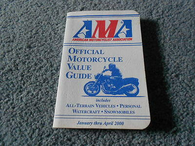 2000 Ama Official Motorcycle Value Guide American Motorcyclist Association
