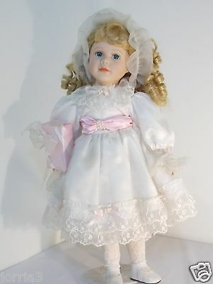 "Porcelain Face Doll SEYMOUR MANN 21"" COLLECTIBLE"