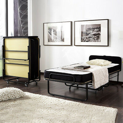 g stebett 90x200 schwarz faltbett klappbett raumsparbett metallbett bett rollen eur 359 00. Black Bedroom Furniture Sets. Home Design Ideas