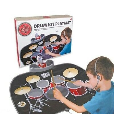 Childrens Kids Electronic Musical Drum Mat With MP3 Input & Speakers 17974
