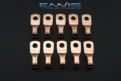 8 Gauge Copper #10 Ring 10 Pk Crimp Terminal Connector Awg Ga Car Eye Cur810