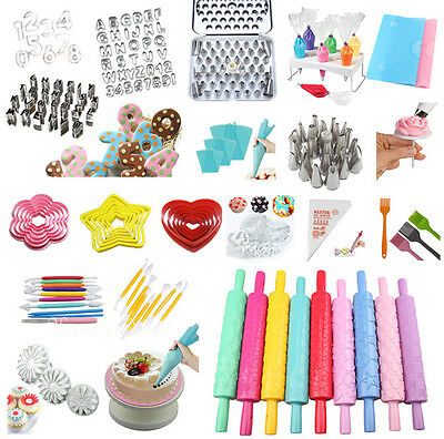 Mixed Cake Cookie Cupcake Decorating Fondant Mould Sugarcraft Cutters Tools #T