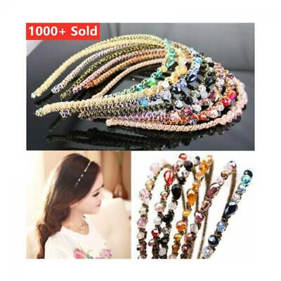 New Fashion Women Girls Rhinestone Crystal Headband Delicate Glitter Hair Band
