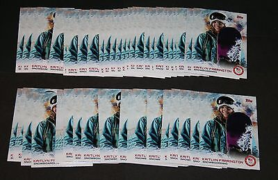 Lot of 54 2014 Topps Olympics #30 Kaitlyn Farrington Cards (Low Quality Lot)