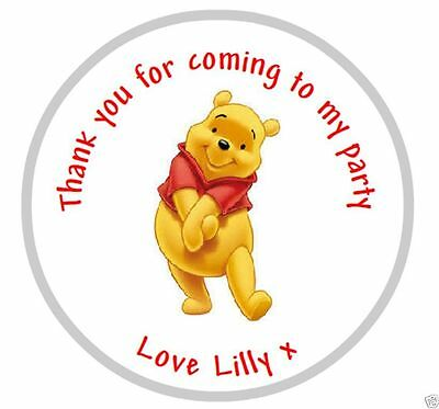 Personalised Winnie the Pooh Stickers