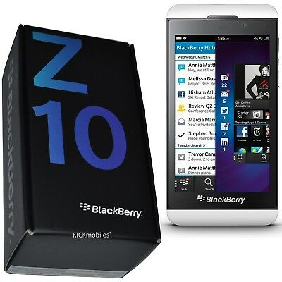 Bnib Blackberry Z10 Stl100-4 16Gb White Factory Unlocked 2G 3G 4G Lte Simfree