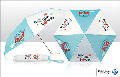 "Official Licensed VW Volkswagen Folding Umbrella  ""Live The Life You Love"""