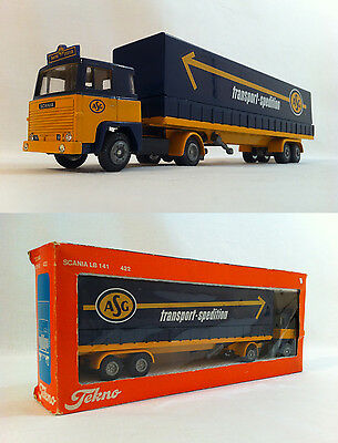 1980 Tekno ASG Transport Spedition Scania LB 141 422 1:50 Scale Boxed RARE
