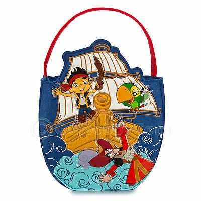 Disney Jake and the Never Land Pirates Trick or Treat Halloween Candy Bag Basket
