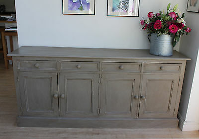 Vintage Dresser Base / Sideboard. Very Good Quality Pine. Painted Console.