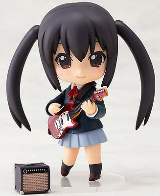 "K-ON! 104# Nakano Azusa 4"" Nendoroid Figure Face Changeable Gift toy NIB"