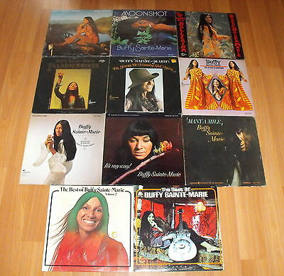 Vtg Buffy Sainte Marie Quiet Places Moonshot Classic Record Collection Lot Of 11