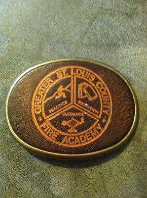 St Louis County Fire Academy Belt Buckle Vintage