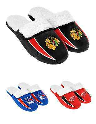 NHL Hockey 2013 Sherpa Slide Shoe Slippers - NEW! - Pick Your Team!
