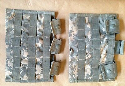 Lot of (2) MOLLE II 3 Mag Pocket Pouch for 30 Rd Mag in ACU-Camo