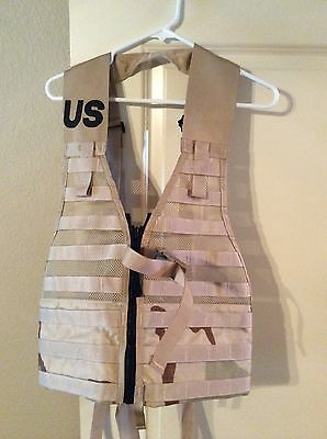 Desert Camo Fighting Load Carrier US Military MOLLE Tactical Vest **New**
