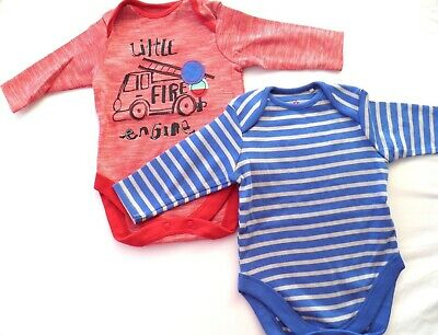 2 Next Baby Boys or Girls Bodysuit Cotton Vests 3-6 Months Choice of design NEW