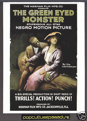 THE GREEN-EYED MONSTER Movie Poster Reprint POSTCARD