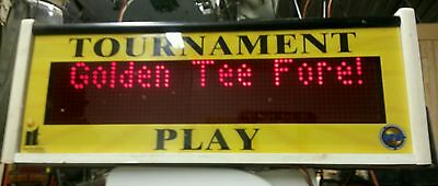 Golden Tee Fore Marquee Header Sign.  Tested and working 2002 - 2005 & Complete