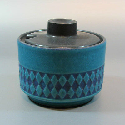 Vintage Ceramano Blue-Green Sugar bowl w/ Lid West Germany Mid Century 60's 70's