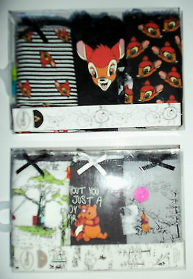 3 Pack Cotton White Disney Bambi or Winnie the Pooh Briefs from Primark