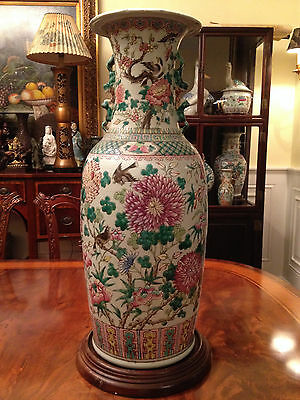 A Huge and Rare Chinese Qing Dynasty  Famille Rose Vase.