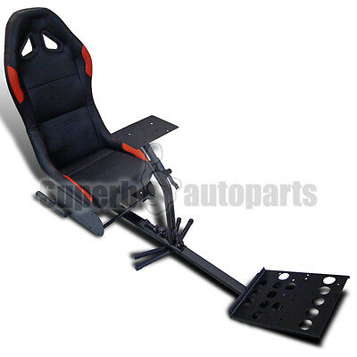 Video Game Corsa Racing Seat Driving Simulation Cockpit Chair Black/Red PS3 Xbox