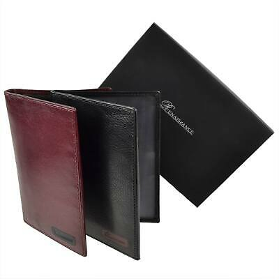 Mens Leather Passport/Document Wallet by Renaissance Gift Boxed Credit Cards