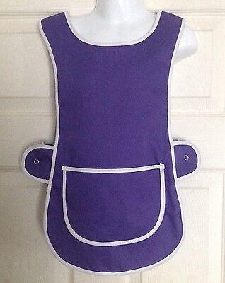 Wholesale Job Lot 10 Brand New Girls 3-4 Yrs Tabard Aprons Purple Clothes Craft
