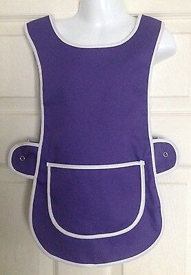 Wholesale Job Lot 20 Brand New Girls 3-4 Yrs Tabard Aprons Purple Clothes Craft